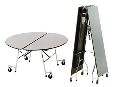 Mobile Folding Dining Table School Tables Wagstaff